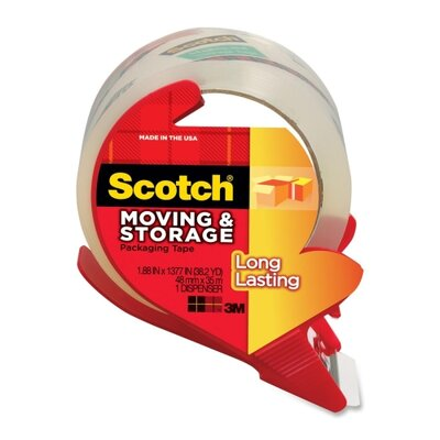 "3M Tape With Dispenser, 1-7/8""x38.2 Yds, Clear"