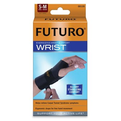 3M Futuro Energizing Wrist Support, Small/Medium, Fits Left Wrists