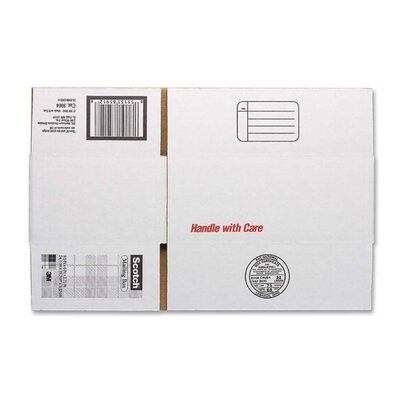 "3M Mailing Box,Size A,Labels Included,9-1/2""x6""x3-3/4"",White"