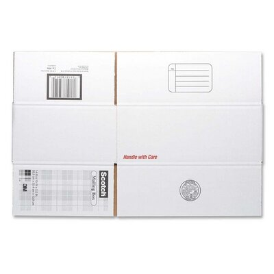 "3M Mailing Box,Size C,Labels Included,14""x10""x5-1/2"",White"