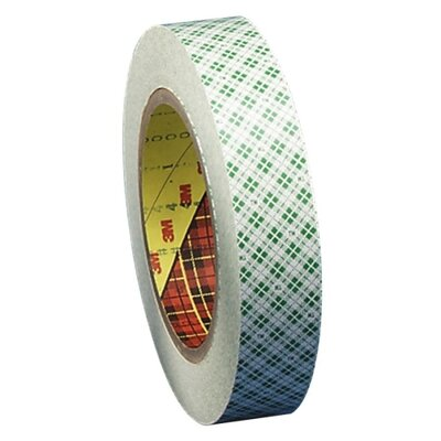 "3M Double-Coated Tape, 3"" Core, 1""x36 Yards, Off-White"