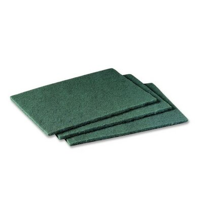 "3M Scotch Brite Scrubbing Pads, 6""x9"", 20 per Pack, Green"