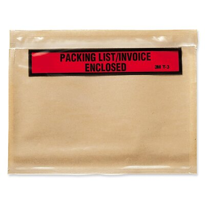 3M Top Print Packing List Envelope, 1000/Carton