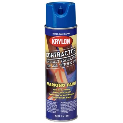 Krylon 15 Oz APWA Blue Water Based Contractor Marking Spray Paint
