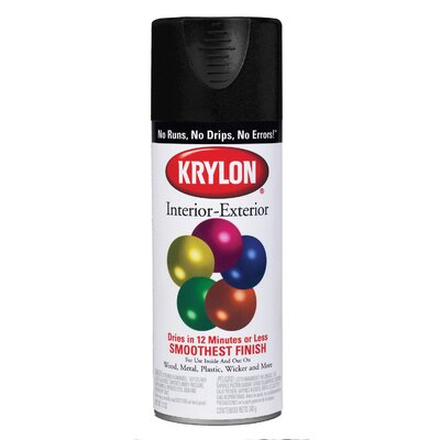 Krylon Glossy Black Interior/Exterior Decorator Spray Paint