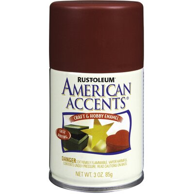 AmericanAccents 3 Oz Colonial Red Craft and Hobby Enamel Spray Paint Satin