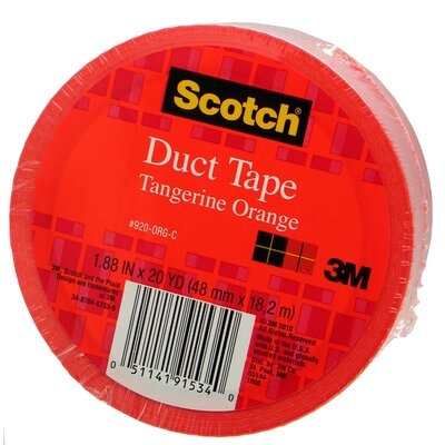 3M 20 Yards Tangerine Orange Duct Tape