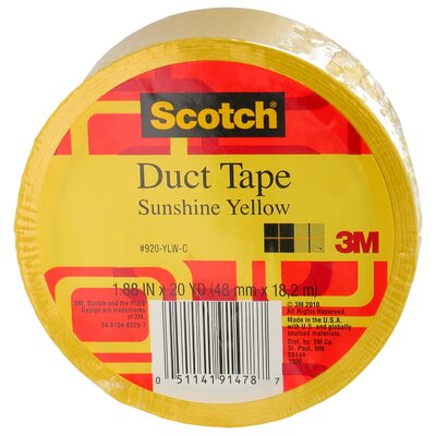 3M 20 Yards Sunshine Yellow Duct Tape