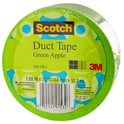 3M 20 Yards Green Apple Duct Tape