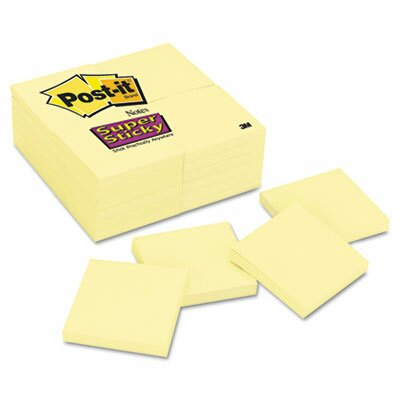 3M Post-it Notes Super Sticky Pad in Canary Yellow