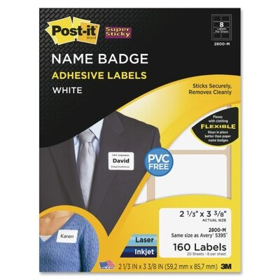 3M Post-it Name Badge Labels