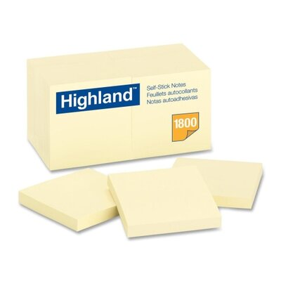 Post-it® Highland Self-Stick Note Pad, 18 Pack