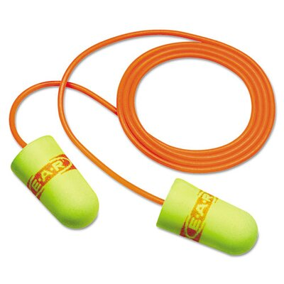 3M Soft Superfit Single-Use 33 NRR Corded Earplugs