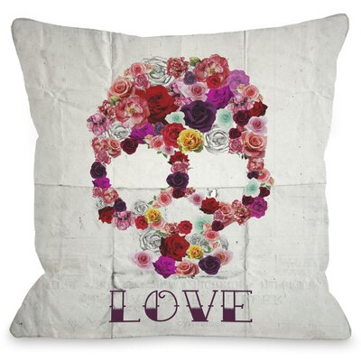 OneBellaCasa.com Oliver Gal Bed of Roses Pillow