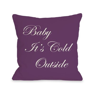 OneBellaCasa.com Holiday Baby It's Cold Outside Reversible Pillow