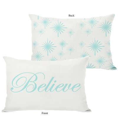 OneBellaCasa.com Holiday Believe Reversible Pillow