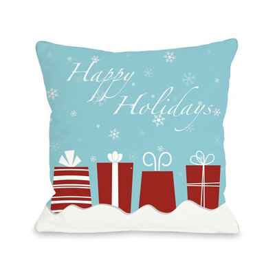 OneBellaCasa.com Holiday Happy Presents Pillow
