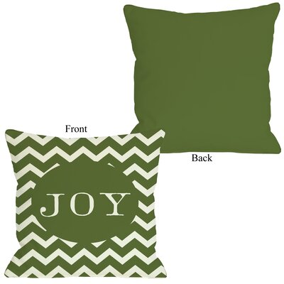 OneBellaCasa.com Holiday Joy Chevron Stripe Pillow