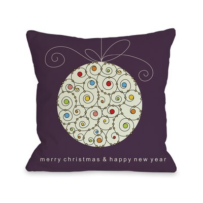 OneBellaCasa.com Holiday Large Ball Ornament Pillow