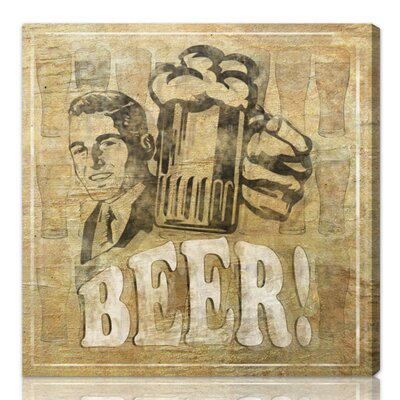 One Bella Casa ''Beer'' Graphic Art on Canvas
