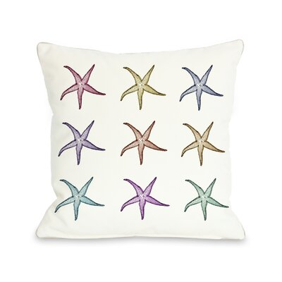 One Bella Casa Starfish Pattern Pillow