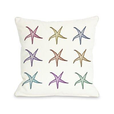 OneBellaCasa.com Starfish Pattern Pillow