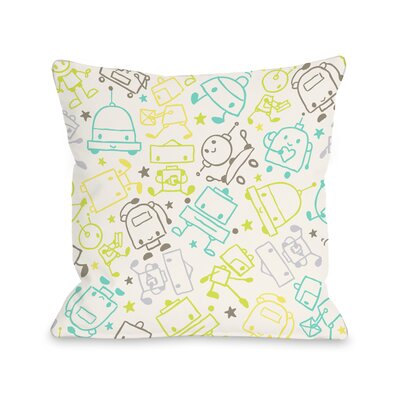 One Bella Casa Space Robots Pillow