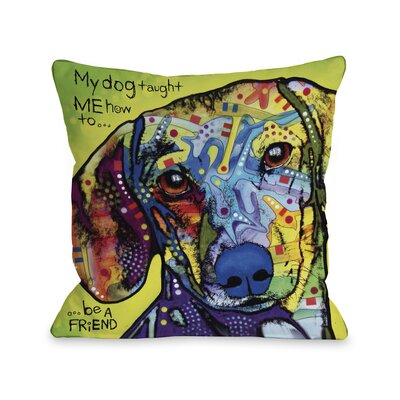 One Bella Casa Doggy Décor Dachshund with Text Pillow