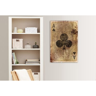 "One Bella Casa ""Ace of Clubs"" Graphic Art on Canvas"