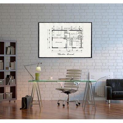"One Bella Casa ""Dessins Architecturaux II"" Graphic Art on Canvas"