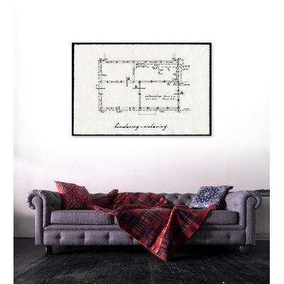 "One Bella Casa ""Dessins Architecturaux"" Graphic Art on Canvas"