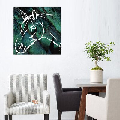 One Bella Casa ''Horse'' Graphic Art on Canvas