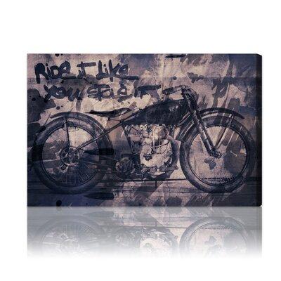 One Bella Casa ''Ride It'' Graphic Art on Canvas