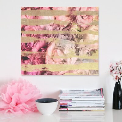 """One Bella Casa """"Fields Of Rose"""" Graphic Art on Canvas"""