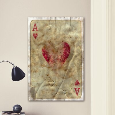 "One Bella Casa ""Ace of Hearts"" Graphic Art on Canvas"