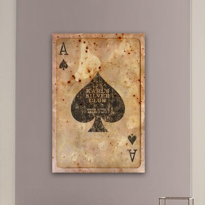 "One Bella Casa ""Ace of Spades"" Graphic Art on Canvas"