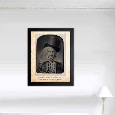 "One Bella Casa ""Mad Hatter"" Framed Graphic Art"