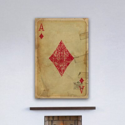 "One Bella Casa ""Ace of Diamonds"" Graphic Art on Canvas"