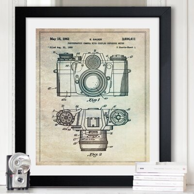 One Bella Casa ''Sauer Photographic Camera, 962'' Framed Graphic Art