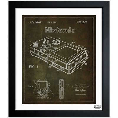 One Bella Casa Gameboy 1993 Framed Graphic Art