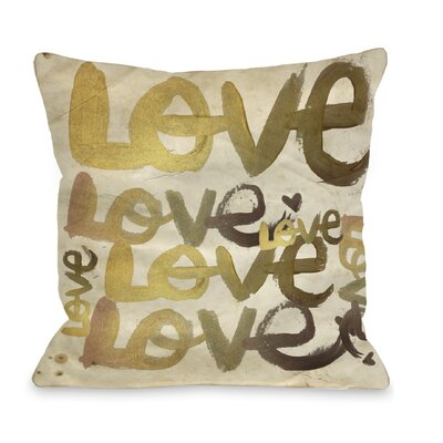 One Bella Casa Oliver Gal Four Letter Word Pillow