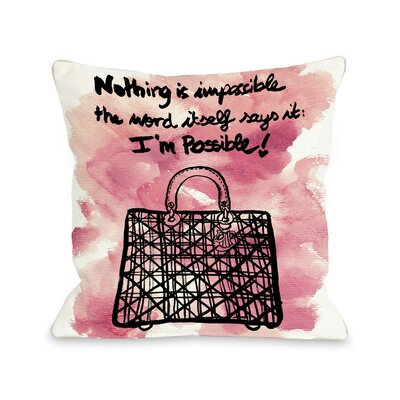 OneBellaCasa.com Oliver Gal Nothing Is Impossible Pillow