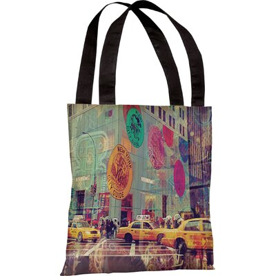 One Bella Casa Oliver Gal NYC Fashion Taxi Tote Bag