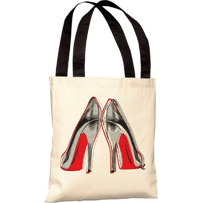OneBellaCasa.com Oliver Gal Fire in Your New Shoes Tote Bag