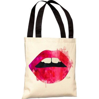 OneBellaCasa.com Oliver Gal Lola's Lips Tote Bag