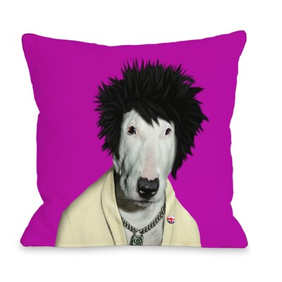 OneBellaCasa.com Pets Rock Punk Pillow