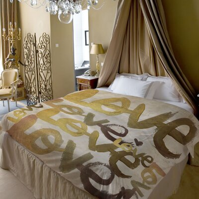 OneBellaCasa.com Oliver Gal Four Letter Word Duvet Cover Collection