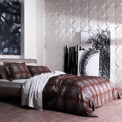 Inhabit Wall Flats Cirque Polka Dot Embossed 12 Piece Wallpaper Tiles