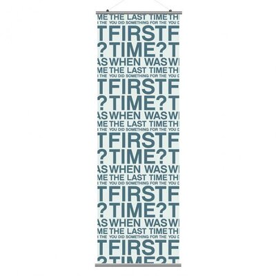 Inhabit Slat First Time Wall Hanging
