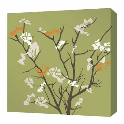 Rhythm Ailanthus Stretched Graphic Art on Canvas in Grass